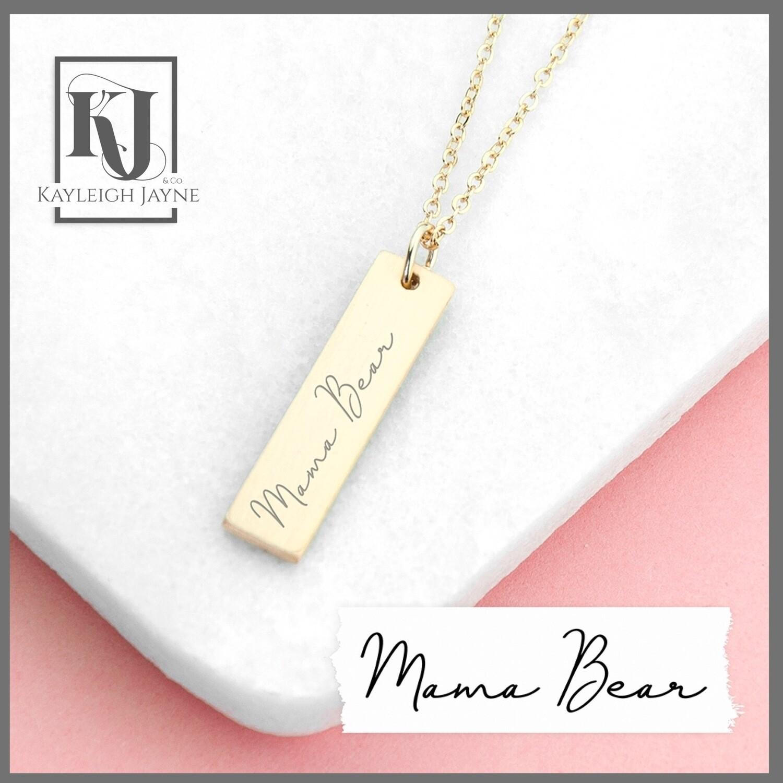 Personalised Handwritten Bar Necklace