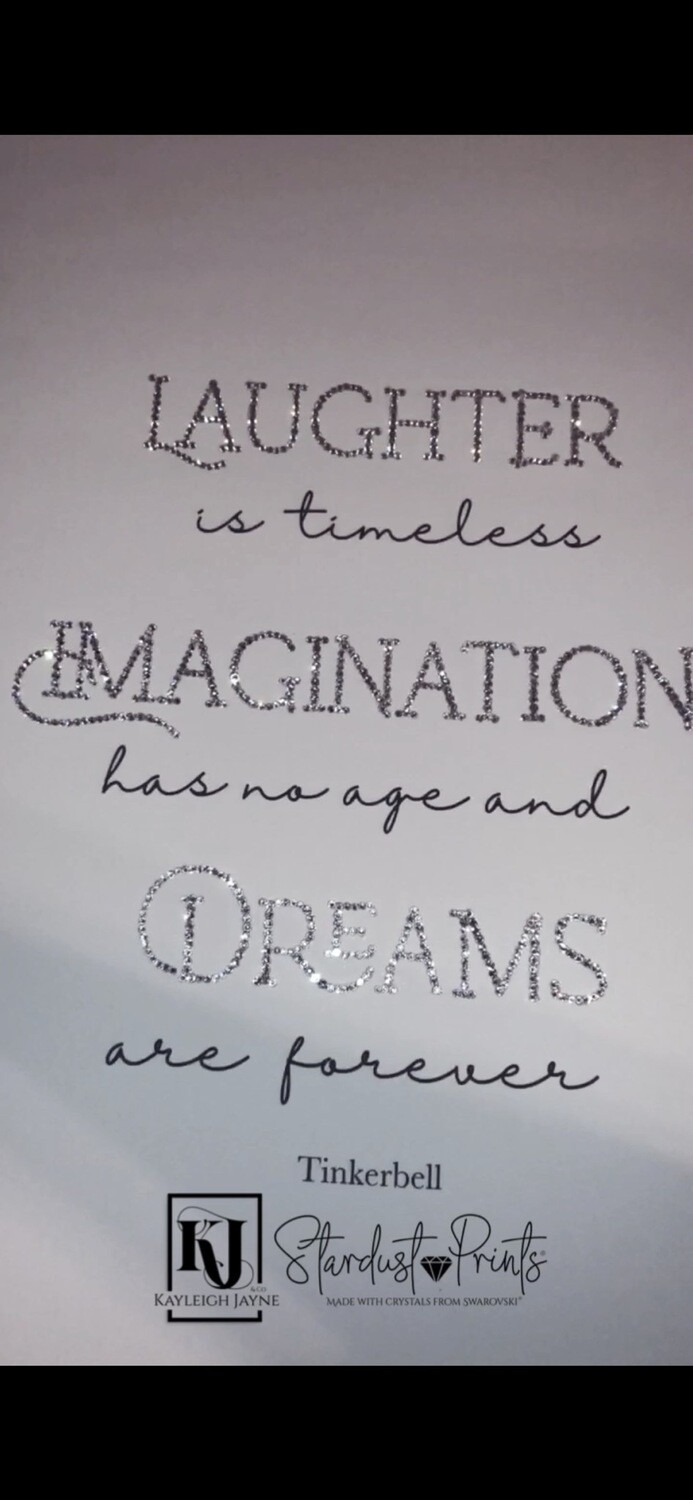 Stardust crystallised Print® - With Crystals From Swarovski® - Imagination & Dreams Quote