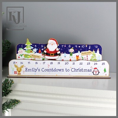 Personalised Christmas Advent Countdown Kit