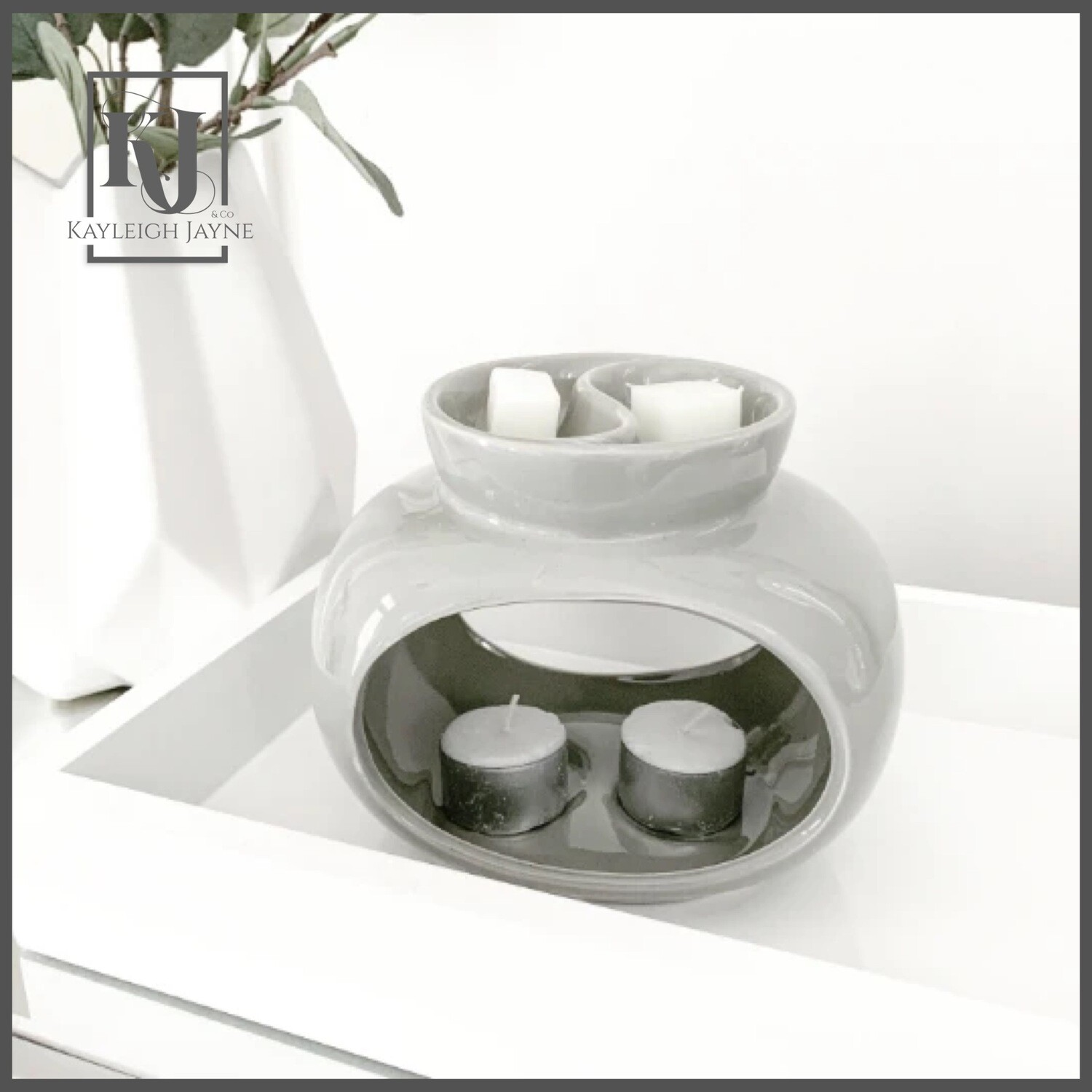Ceramic Wax Melt Burner - Deluxe Rome