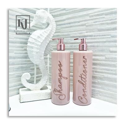 Pink And Rose Gold Bathroom Bottles PRE-ORDER