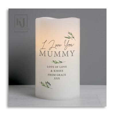 Botanical LED candle