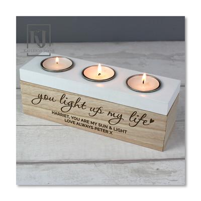 You Light Up My Life - Tea light Holder