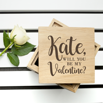 Will You Be My Valentine? Photo cube