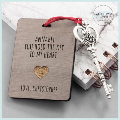 Personalised The Key To My Heart Keepsake