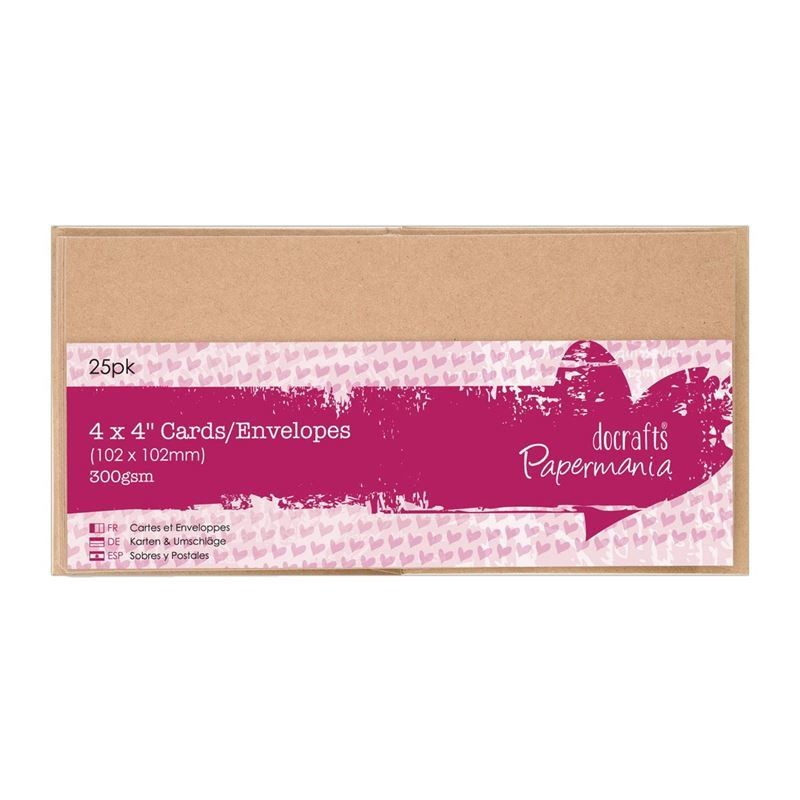 Конверты + заготовка для открыток 102*102 мм (25 шт)