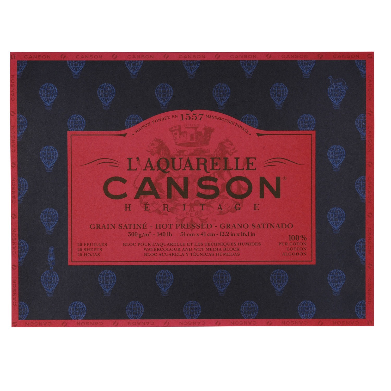 Блок для акварели Canson Heritage 300г/м2 31*41см 20л