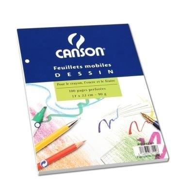 Canson Бумага для рисования 17x22см 90г/м2  100л