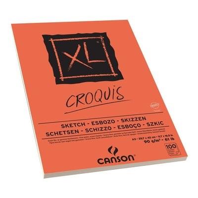 Альбом для графики CANSON XL, 90гр/м, A3, 100л, склейка