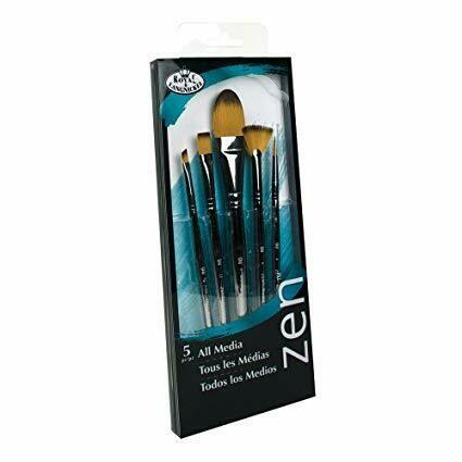 Набор художественных синтетических кистей ZEN 5 шт
