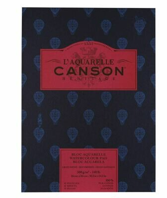 Canson Heritage Watercolour Pad - 12 Sheets - 300gsm - 9