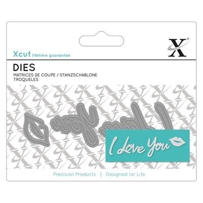Форма для вырубки Xcut - I Love You