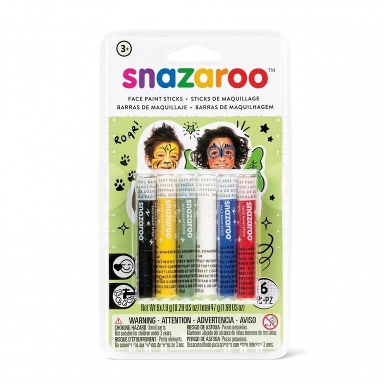 Набор Snazaroo красок-мелков для лица, 5 цветов (хватает на 20 лиц)