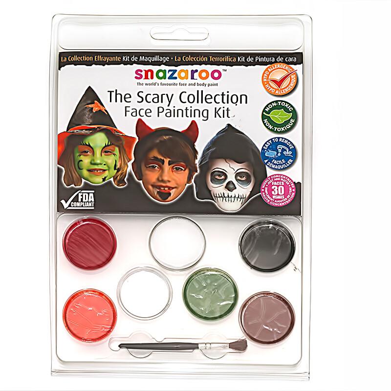 Набор красок для лица (30 лиц) 6 цв Scary, Snazaroo