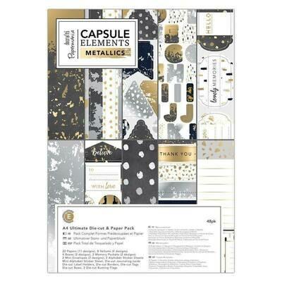 Набор бумаги A4 Capsule Elements Metallic, 48 листов