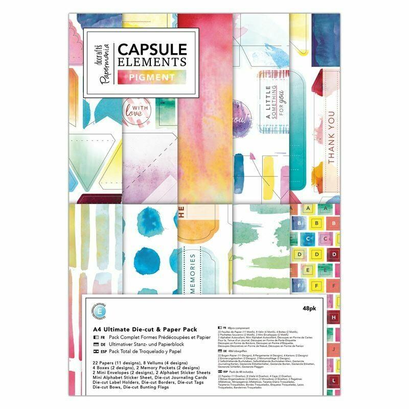"""Набор бумаги А4 """"Element Pigment"""" с высеченными элементами 48 листов"""