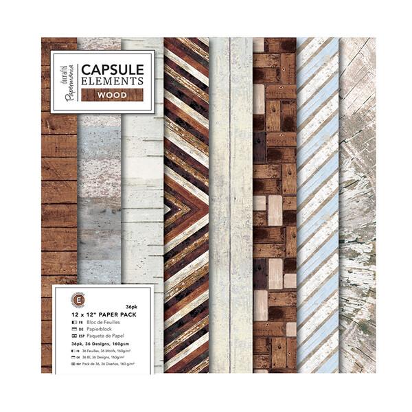 """Набор бумаги 30,5 х 30,5 см """"Elements Wood"""", 36 листов"""
