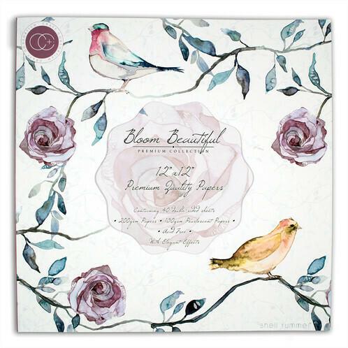Набор бумаги 30x30 Bloom Beautiful 40 двусторонних листов