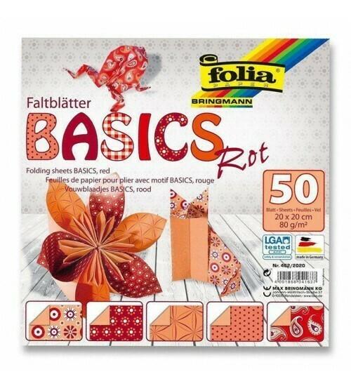 Набор бумаги для оригами 20*20 FOLIA 20л