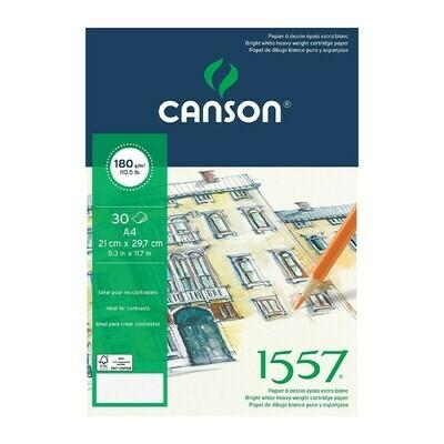 Альбом 1557 Canson склейка, 180гр/м, малое зерно, A4, 30л