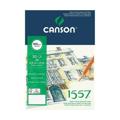Альбом 1557 Canson склейка, 180гр/м, малое зерно, A5, 30л