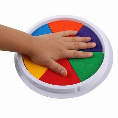 Finger Paint Washable Kids Large Stamp Ink Pad Art DIY 6 Colors