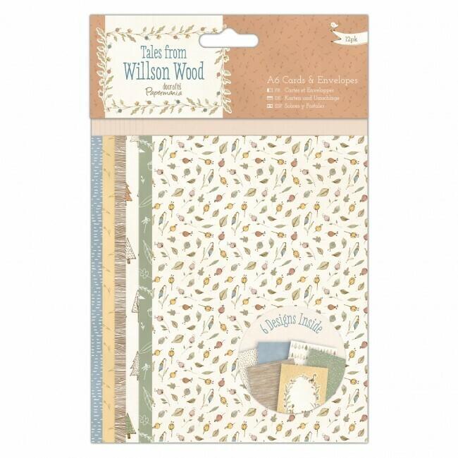 Набор конверт+открытка docrafts (12шт) A6
