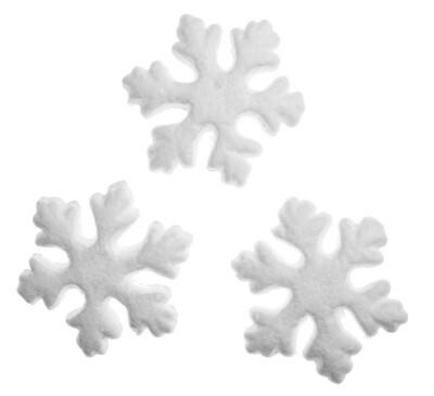 Снежинка из пенопласта 7,5см.