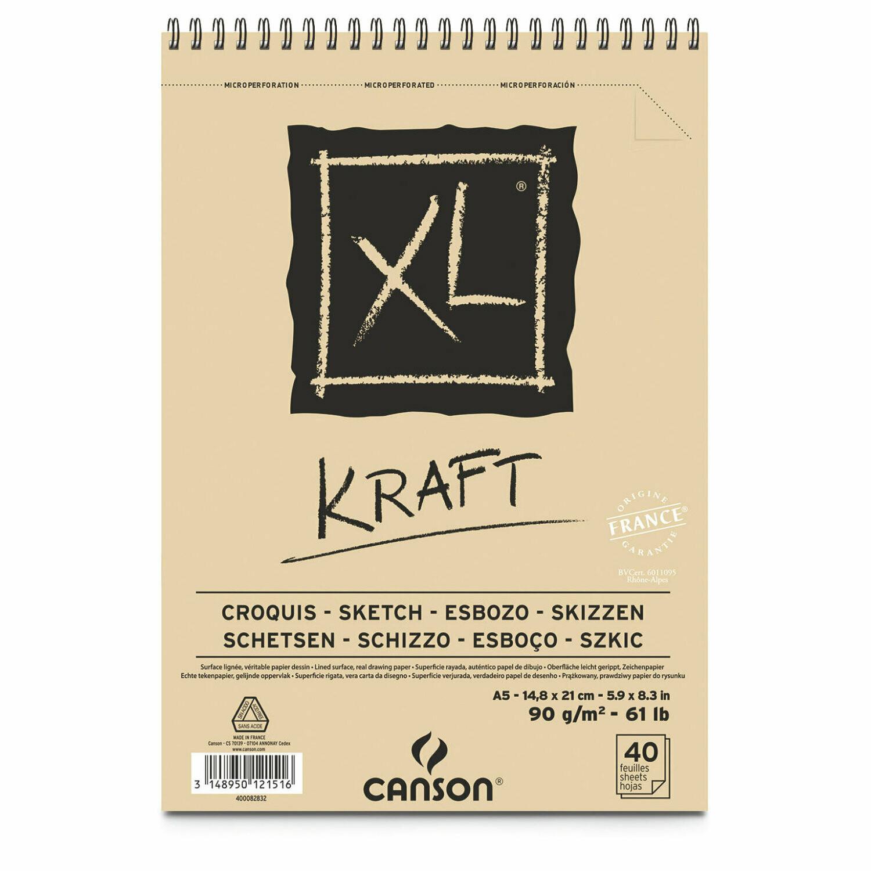 Bloc de desen Canson XL Kraft, 15х21cm, 90gpm