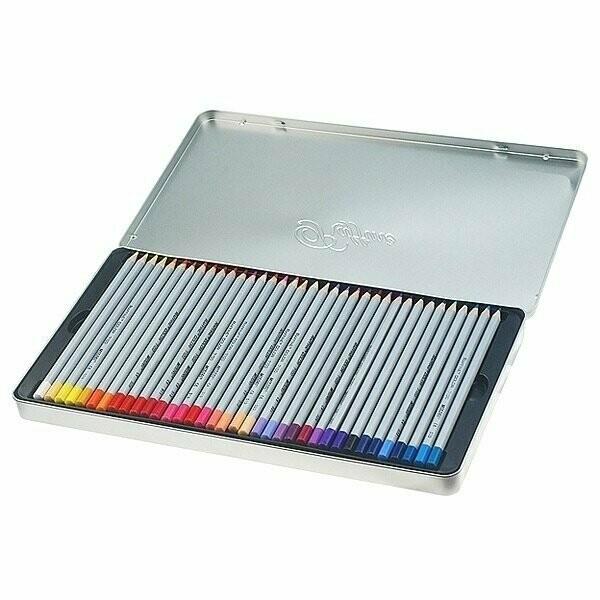 Набор цветных карандашей MARCO в металлической упаковке 36 цветов
