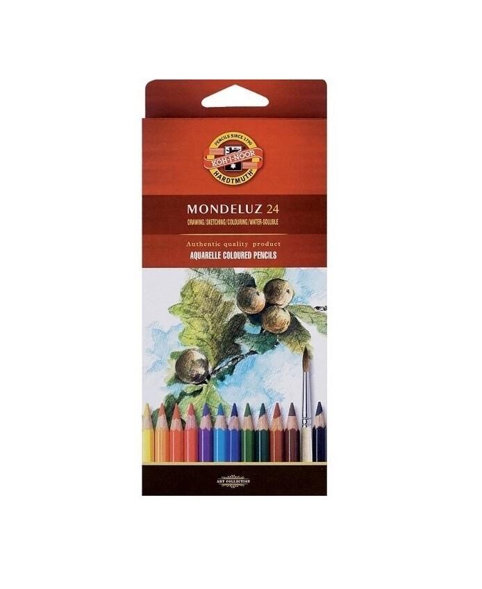 Набор карандашей цветных акварельных Koh-I-Noor Mondeluz 24 цв