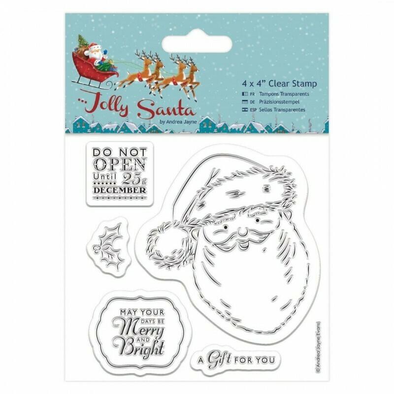 Набор штампов 10x10см - Jolly Santa