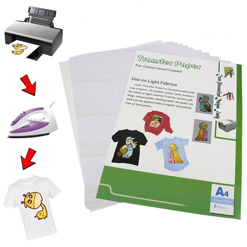 Термотрансферная бумага A4 для светлых тканей для лазерного принтера