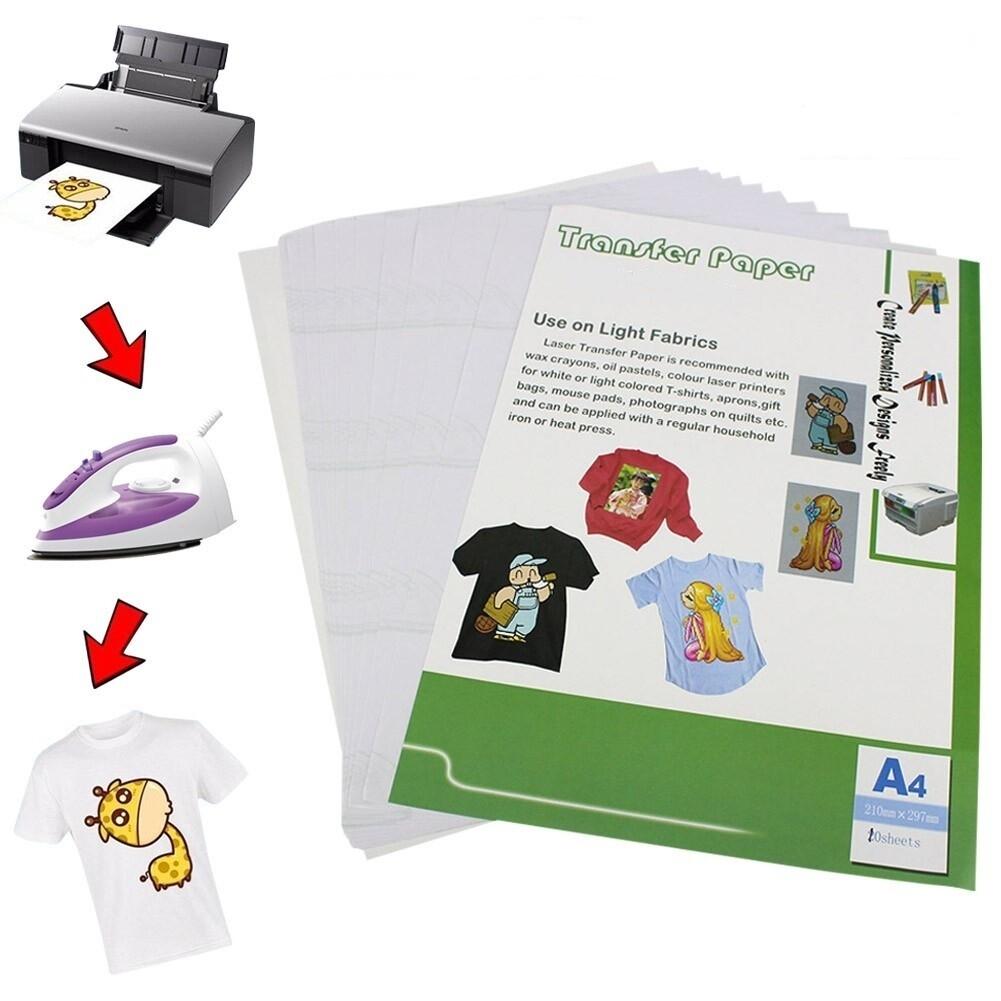 Термотрансферная бумага A4 для светлых тканей для струйного принтера