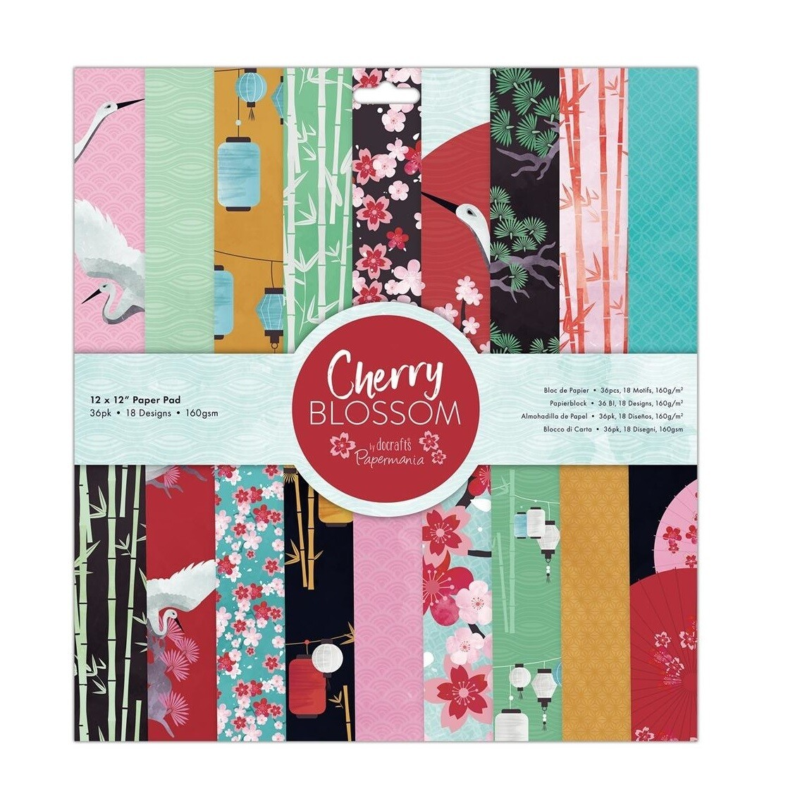 Набор бумаги 30*30 см Cherry Blossom Docrafts