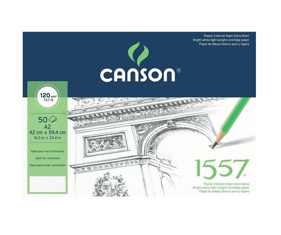 Альбом 1557 Canson склейка, 120 гр/м2, 42х59,4 см, 50 л