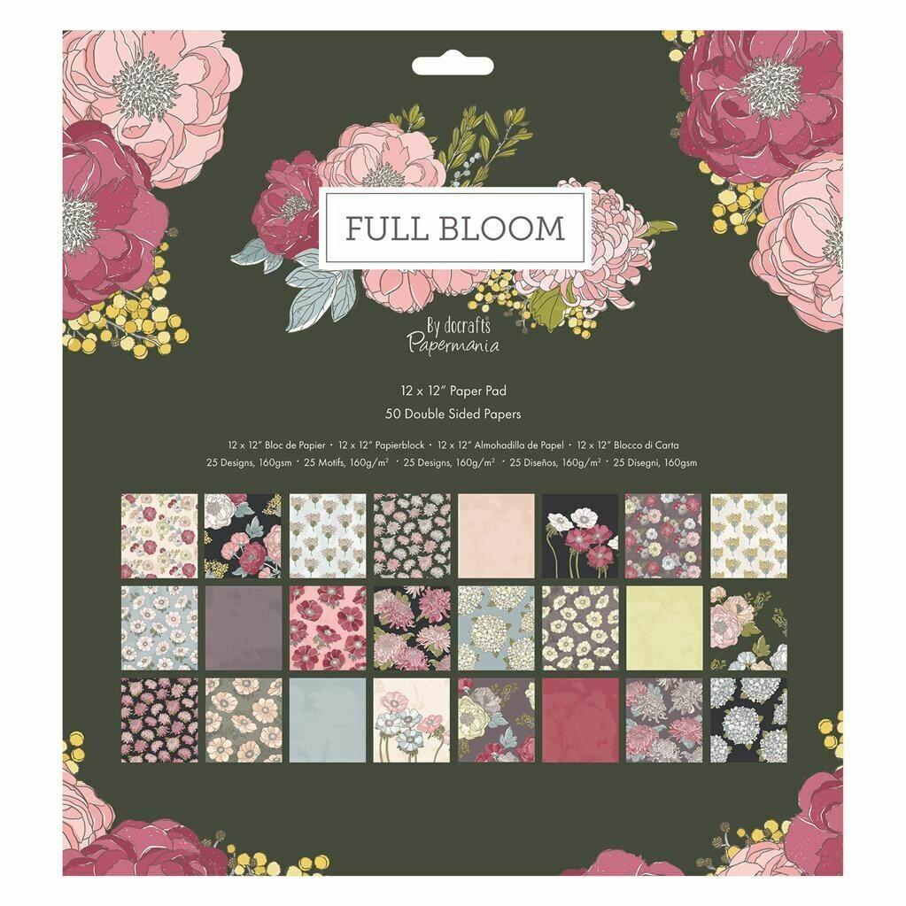 Set de hârtie 30*30 Docrafts Full Bloom (50p)
