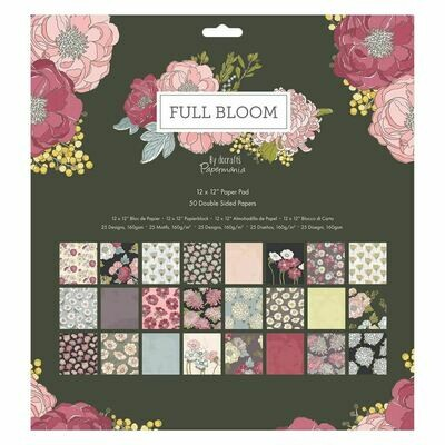 Набор бумаги 30*30 Docrafts Full Bloom (50стр)