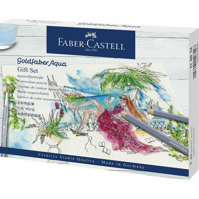 Set de creioane Colorate Aqua Faber-Castell 18 piese