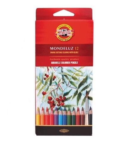 Набор карандашей цветных акварельных Koh-I-Noor Mondeluz 12 цв