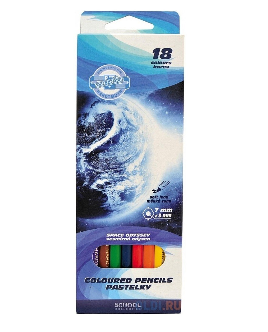 Набор карандашей цветных Koh-I-Noor 18 цв