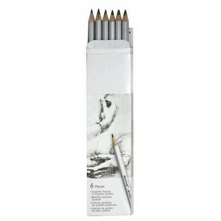 "Набор графитных карандашей ""Marco Raffine"" 2H-3B 6 штук"