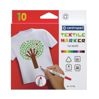 Маркеры для ткани Centropen 10 цветов 1,8 мм