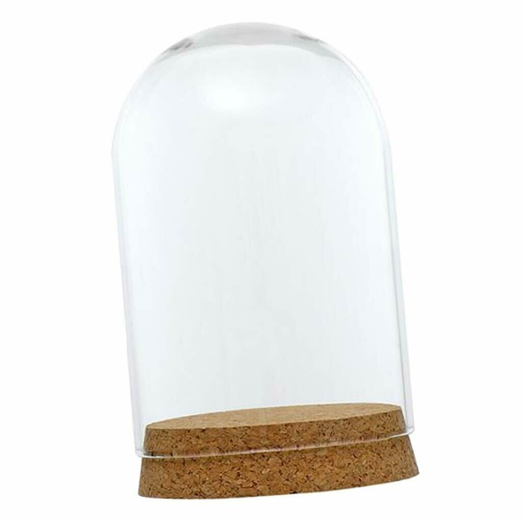 Glass Cloche Jar Domes with Cork Bases 8x12cm