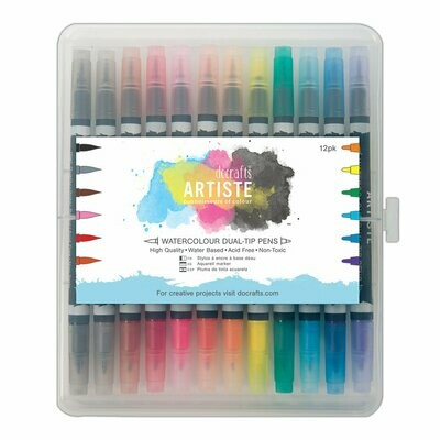 Набор маркеров DOCRAFTS Watercolour Dual Tip Pens (12pk)