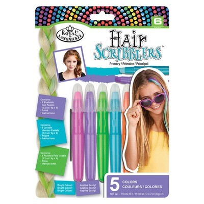 Набор мелков для волос 5цв
