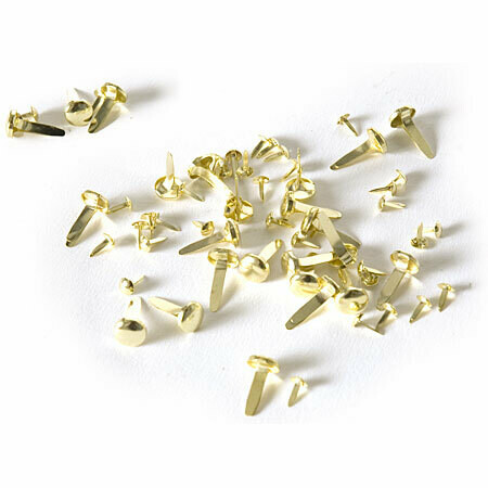 Брадсы Rayher золотые 4-8 мм 75 шт