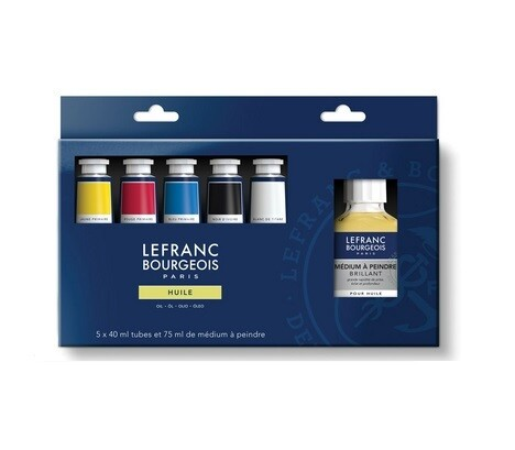 Набор масляных красок с разбавителем Lefranc Bourgeois