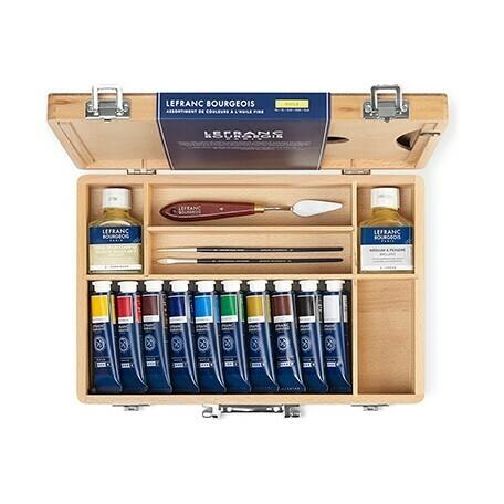 Набор масляных красок Lefranc Burgeois в деревянной коробке