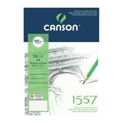 Альбом 1557 Canson склейка, 120гр/м, малое зерно, A5, 50л